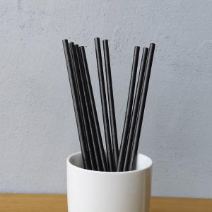 Black Solid Colour Drinking Paper Straws