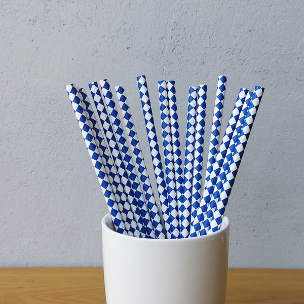 Harlequin Diamond Paper Straws