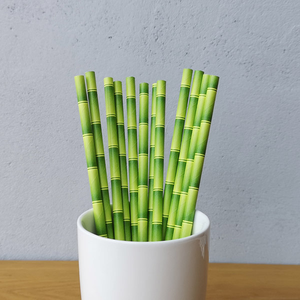 Bamboo-Shaped Paper Straws