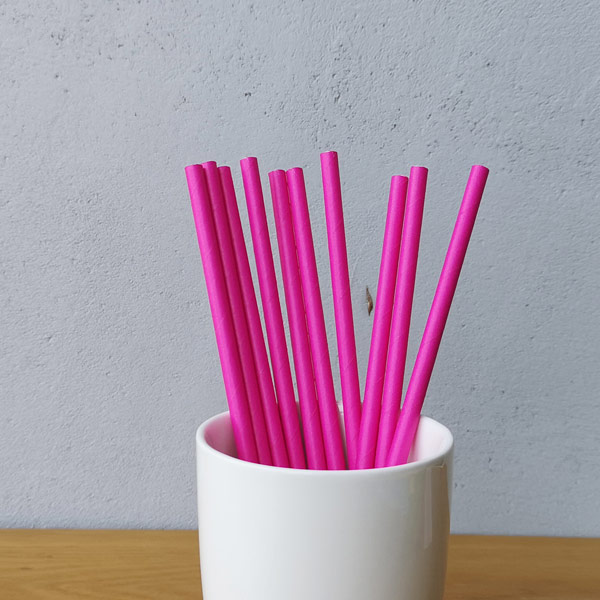 Purple Solid Colour Drinking Paper Straws