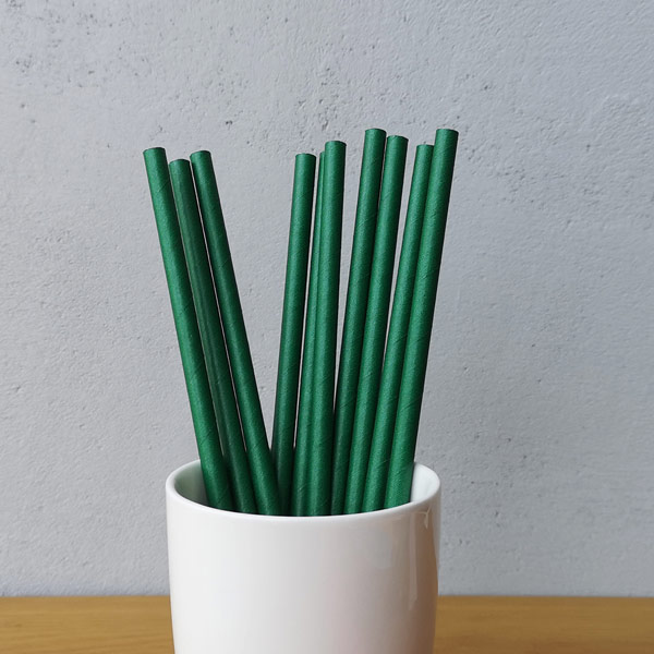 Starbucks Green Solid Colur Drinking Paper Straws
