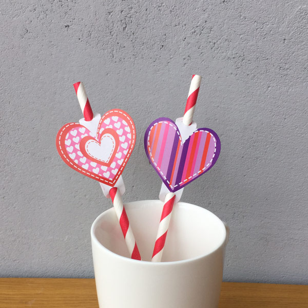 Valentine & Wedding Paper Straws